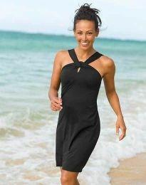 Дамска рокля в черно - код 32522
