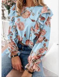 Дамска блуза в светло синьо - код 4256