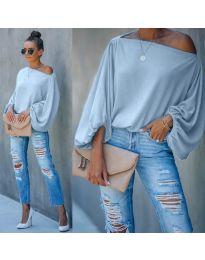 Дамска блуза в светло синьо - код 5151