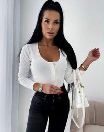 Дамска блуза в бяло - код 11698