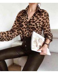 Риза с дълги ръкави и животински десен - код 141 -1
