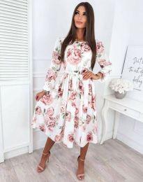 Атрактивна дамска рокля с флорален десен - код 4382 - 2