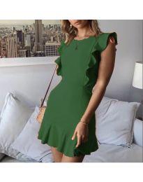Елегантна рокля в зелен цвят - код 548