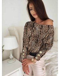Дамска блуза с ефектен десен - код 5156 - 5