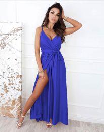 Дълга рокля в тъмносиньо - код 2651
