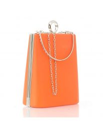Дамска изчистена чанта в светлооранжево - код 20121