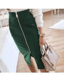 Елегантна пола в тъмно зелено - код 4789