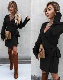 Ефектна рокля в черно - код 9846