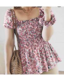 Дамска блуза в розово - код 3464