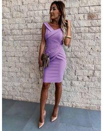 Изчистена рокля в лилаво - код 1104