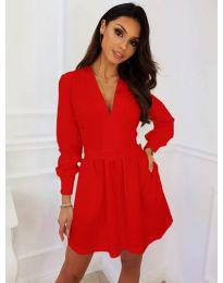 Кокетна рокля в червен цвят - код 089