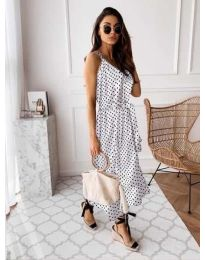 Свободна дамска рокля в бяло - код 118