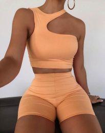 Дамски спортен сет в оранжево - код 2609