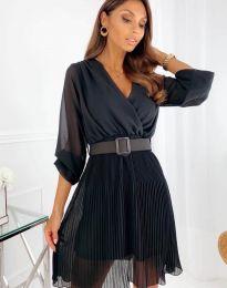Атрактивна дамска рокля в черно - код 3497