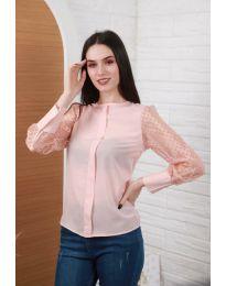 Елегантна дамска блуза в розово - код 0631