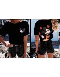 Дамска тениска в черно - код 1189