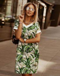 Свободна дамска рокля с атрактивен десен - код 3492 - 1