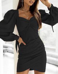 Дамска рокля  в черно - код 0363