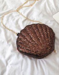 Дамска чанта в блестящо кафяво - код B412