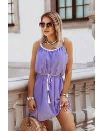Изчистена рокля в лилаво - код 8800