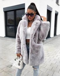 Дамско палто в сиво - код 99511
