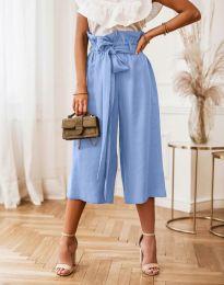 Атрактивен дамски панталон в светлосиньо - код 2136