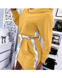 Спортна рокля в горчица - код 4483