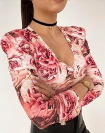 Дамска блуза с атрактивен десен - код 11633 - 1