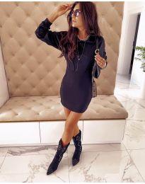 Дамска рокля в черно - код 177