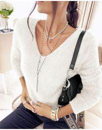 Дамска блуза в бяло - код 8051
