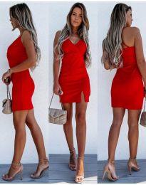 Елегантна дамска рокля в червено - код 8979