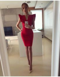 Елегантна дамска рокля в червено - код 009