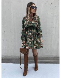 Дамска рокля с атрактивни мотиви - код 7712 - 5
