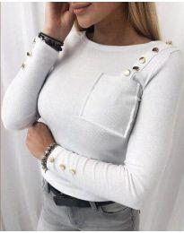 Дамска блуза в бяло - код 1597