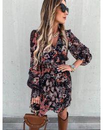 Дамска рокля с атрактивни мотиви - код 7712 - 2