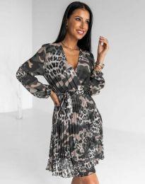 Дамска плисирана рокля - код 8497 - 2