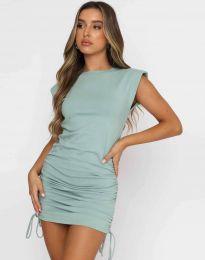Атрактивна дамска рокля в цвят мента - код 11985