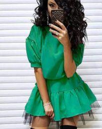 Дамска рокля в зелено - код 2856