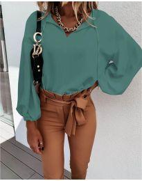 Дамска риза в цвят мента - код 924
