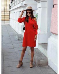 Дамска рокля в червено - код 8171