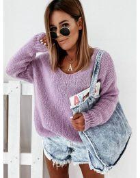 Плетена дамска блуза в лилаво - код 112