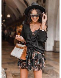 Дамска блуза в  черно - код 6013