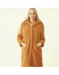 Дамско палто в кафяво - код 1615