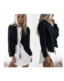 Дамско яке в черно - код 4033