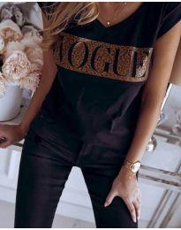 Дамска тениска в черно - код 627
