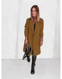 Дамско палто в цвят капучино - код 4540