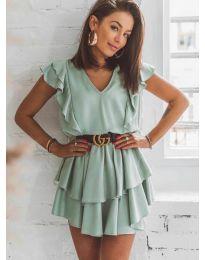 Феерична рокля в зелено - код 7173