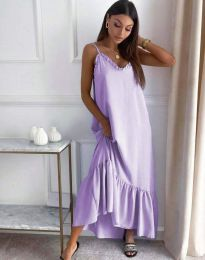 Свободна рокля в светлолилаво - код 4671