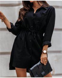 Рокля тип риза в черно - код 132