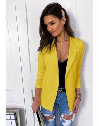 Леко елегантно дамско сако в жълто - код 972